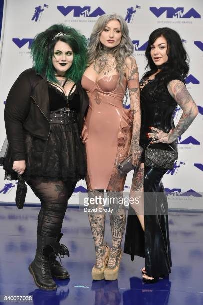 Kelly Doty, Ryan Ashley, and Nikki Simpson attend the 2017 MTV Video Music Awards at The Forum on August 27, 2017 in Inglewood, California.