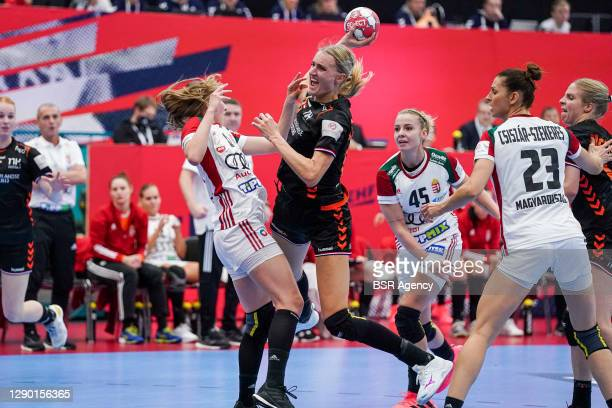 Kelly Dulfer of Netherlands during the Women's EHF Euro 2020 match between Netherlands and Hungary at Sydbank Arena on december 8, 2020 in Kolding,...