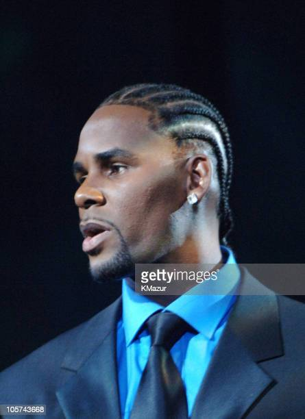 R Kelly during 2005 MTV Video Music Awards Show at American Airlines Arena in Miami Florida United States