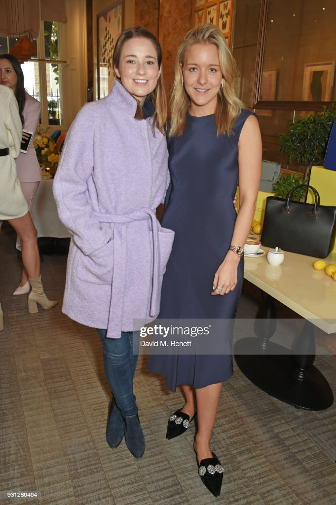 Kelly Eastwood (L) and Espie Roche co-founder Hermione Espie Underwood attend the Espie Roche launch breakfast at The Chess Club on March 13, 2018 in London, England.