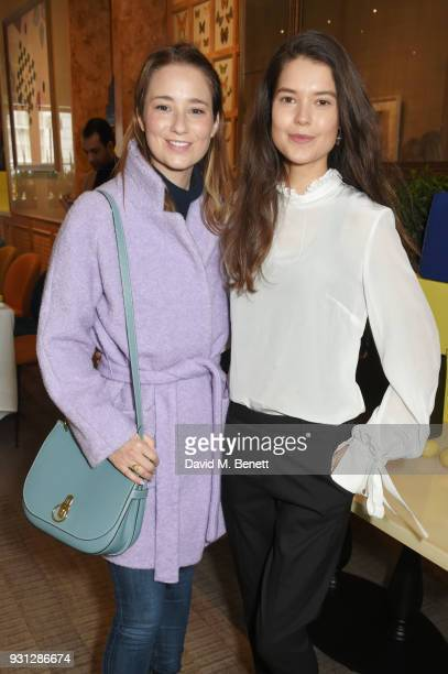 Kelly Eastwood and Sarah Ann Macklin attend the Espie Roche launch breakfast at The Chess Club on March 13 2018 in London England