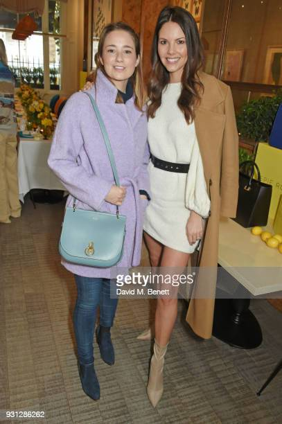 Kelly Eastwood and Stephanie Peers attend the Espie Roche launch breakfast at The Chess Club on March 13 2018 in London England