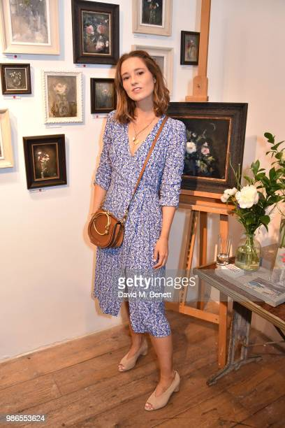 Kelly Eastwood attends a private view of 'Moments' by artist Jemma Powell hosted by Anthropologie King's Road on June 28 2018 in London England