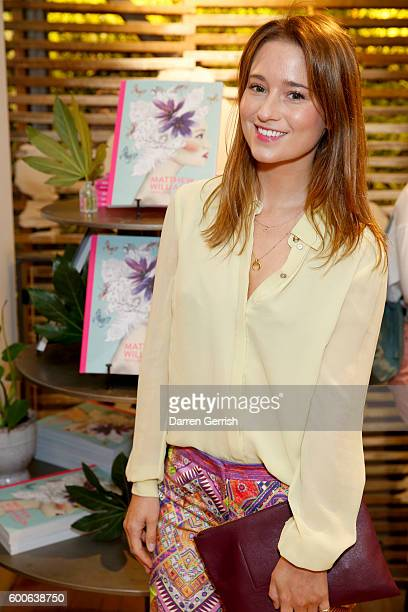 Kelly Eastwood attends the book launch of Matthew Williamson Fashion Print Colouring by Laurence King Publishing at Anthropologie on September 8 2016...
