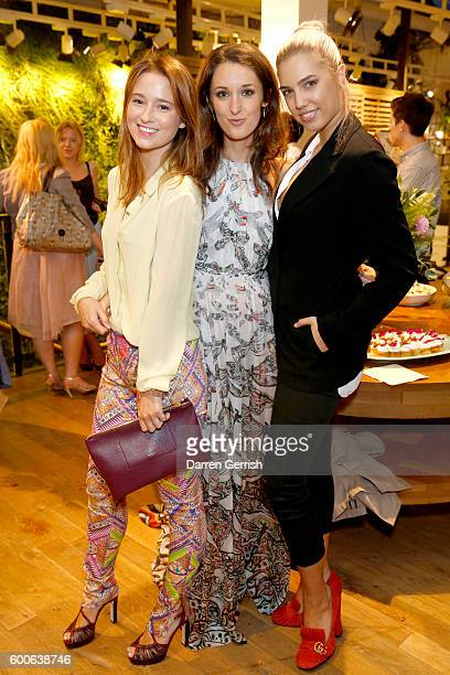 Kelly Eastwood Rosanna Falconer and Amber Le Bon attend the book launch of Matthew Williamson Fashion Print Colouring by Laurence King Publishing at...