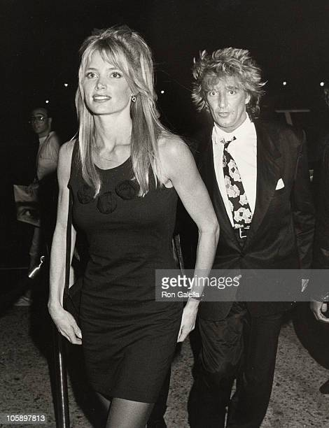 Kelly Emberg and Rod Stewart during Concert Party at Club MK September 27 1988 at Club MK in New York City New York United States