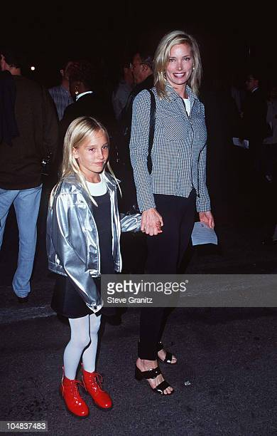 Kelly Emberg Daughter during Cirque Du Soleil Opening in Santa Monica California United States