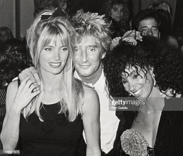 Kelly Emberg Rod Stewart and Julie Brown during Concert Party at Club MK September 27 1988 at Club MK in New York City New York United States