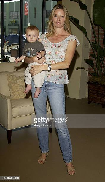 Kelly Emberg with son Cole during The Cotton Box Celebrates Grand Opening of New Showroom at The Cotton Box Store in Los Angeles California United...