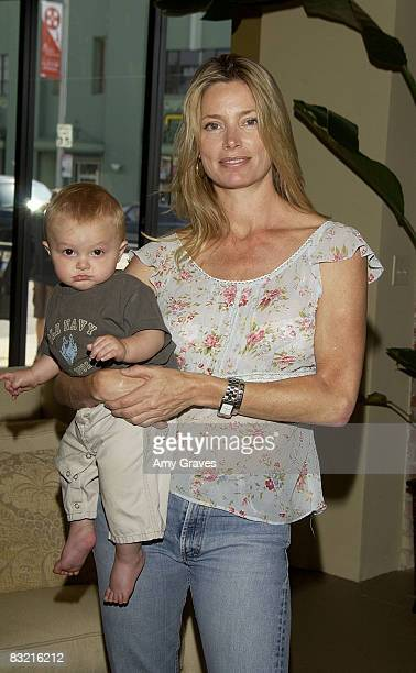 Kelly Emberg with son Cole