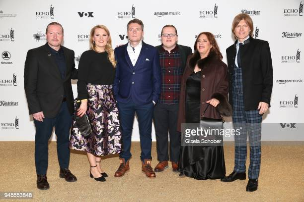 Kelly Family Joe Kelly Maria Patricia Kelly Victor James Kelly Angelo Kelly Kathy Ann Kelly and John Michael Kelly arrive for the Echo Award at Messe...