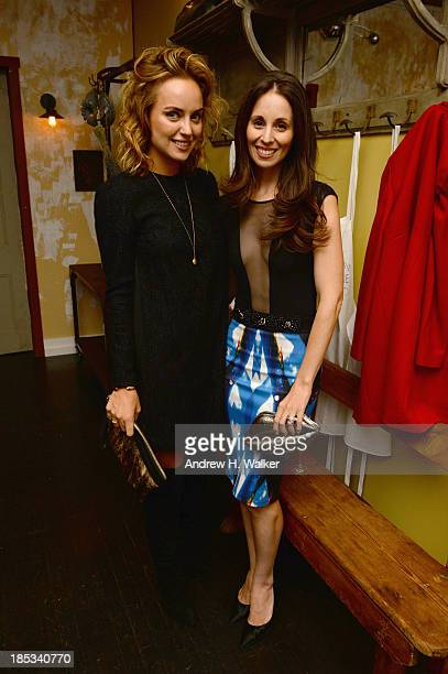 Kelly Framel and Michelle Reeves attend Hannah Bronfman and GREY GOOSE Vodka host exclusive dinner experience at the Boulangerie Picardie on October...