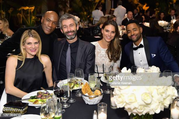 Kelly Frank Rodney Franks Milan Blagojevic Nina Senicar and guest attend Learning Lab Ventures 2019 Gala Presented by Farfetch at Beverly Hills Hotel...