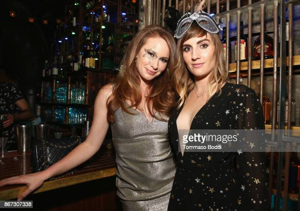 Kelly Frye and Alison Haislip at the UNICEF Next Generation Masquerade Ball at Clifton's Republic on October 27 2017 in Los Angeles California