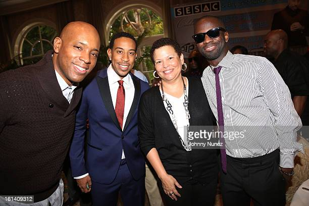Kelly G Christopher 'Ludacris' Bridges Debra Lee and BryanMichael Cox attend The 9th Annual BryanMichael Cox/SESAC Brunch Honoring Ludacris at Four...
