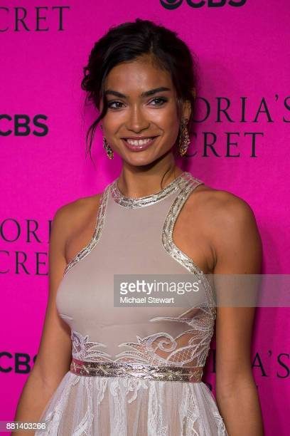 Kelly Gale attends the 2017 Victoria's Secret Fashion Show viewing party pink carpet at Spring Studios on November 28 2017 in New York City