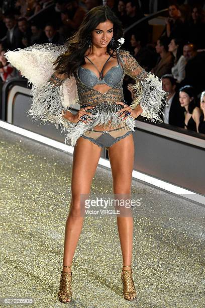Kelly Gale walks the runway during the 2016 Victoria's Secret Fashion Show on November 30 2016 in Paris France
