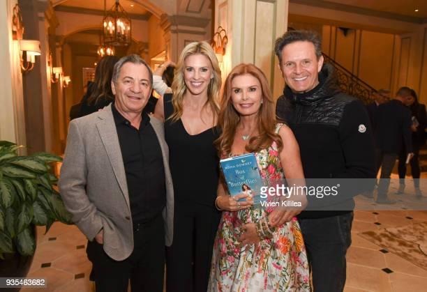 Kelly Gores Alec Gores Roma Downey and Mark Burnett attend the 'Box of Butterflies' Book Party on March 20 2018 in Beverly Hills California