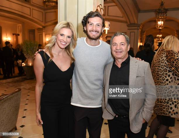 Kelly Gores James Burnett and Alec Gores attend the 'Box of Butterflies' Book Party on March 20 2018 in Beverly Hills California