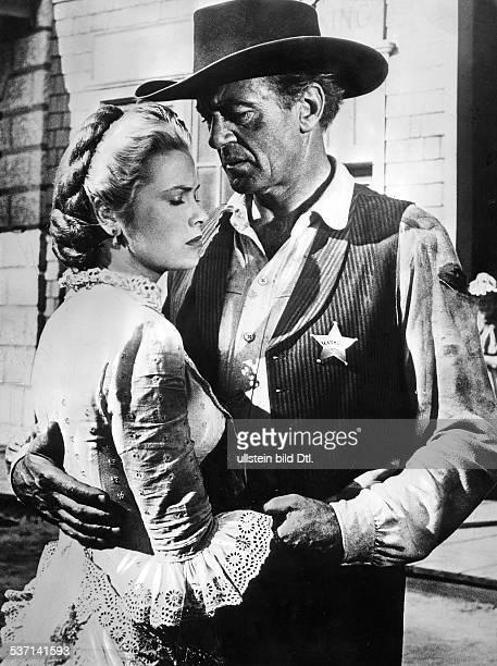 Kelly Grace Schauspielerin USA Gracia Patricia als Fuerstin von Monaco 19561982 mit Gary Cooper in dem Film 'Zwoelf Uhr Mittags' 1952