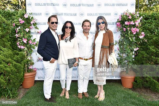 Kelly Graham Betsy Cox John Barman and Victoria Wyman attend the Hollie Watman Launch Party at a Private Residence on June 25 2016 in Bridgehampton...