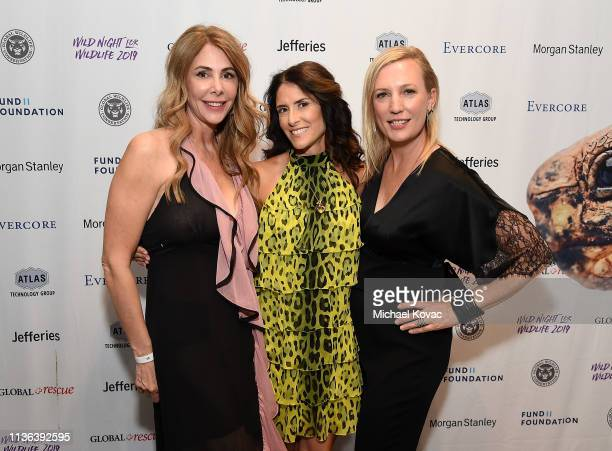 Kelly Green Adria Sheth and Julie Jumonville attend Global Wildlife Conservation's Wild Night For Wildlife annual gala hosted by Brian and Adria...
