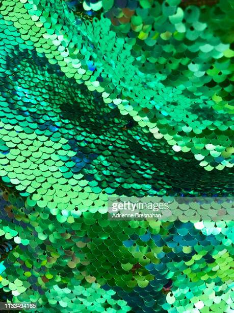 kelly green sequins full frame - sequin stock pictures, royalty-free photos & images