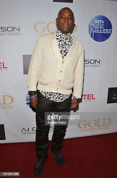 """Kelly Griffin arrives at BET Network's Music Matters Showcase """"Lipstick On The Mic"""" at Belasco Theatre on February 8, 2013 in Los Angeles, California."""