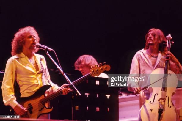 Kelly Groucutt Richard Tandy and Hugh McDowell of Electric Light Orchestra perform live at the Oakland Coliseum in Oakland California on August 23...