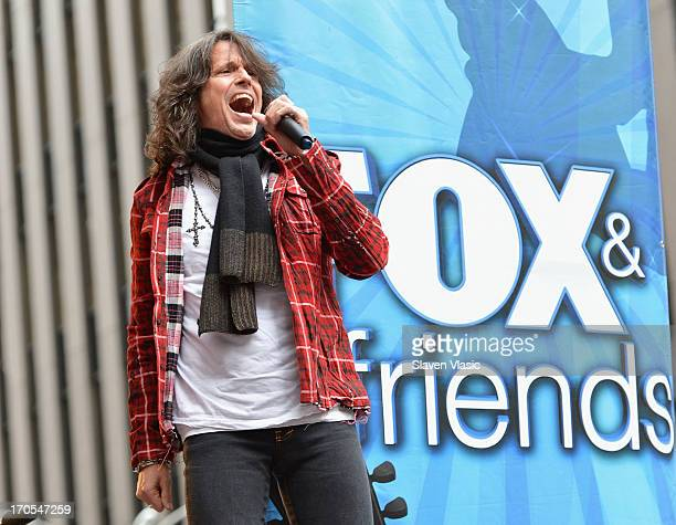 Kelly Hansen lead singer of Foreigner performs during FOX Friends All American Concert Series outside of FOX Studios on June 14 2013 in New York City