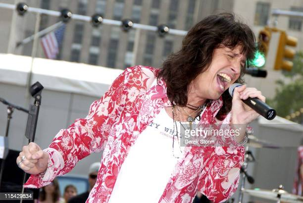 Kelly Hansen of Foreigner during Foreigner Perform on the Today Show May 27 2006 at Dean DeLuca Plaza in New York City New York United States