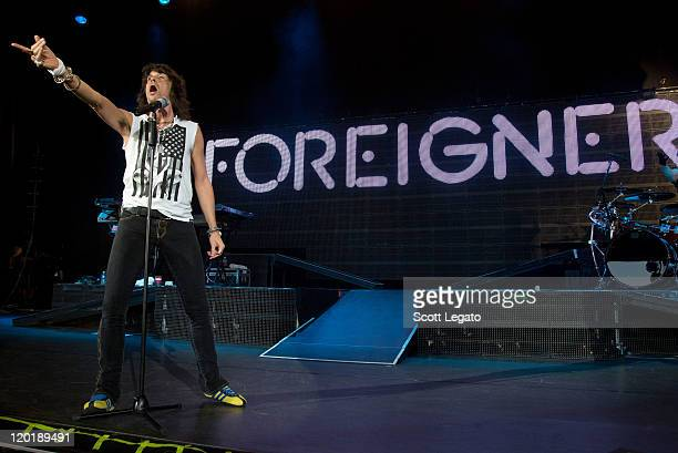 Kelly Hansen of Foreigner performs at DTE Energy Center on July 31 2011 in Clarkston Michigan