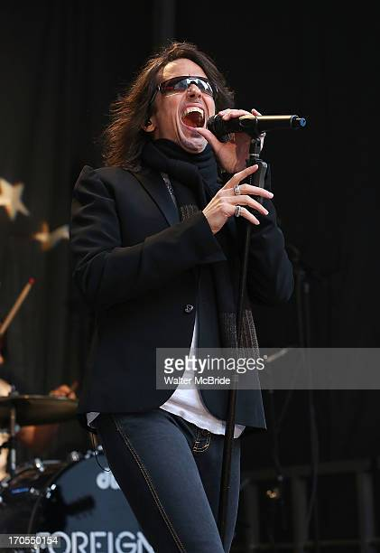Kelly Hansen of Foreigner performs at FOX Friends All American Concert Series outside of FOX Studios on June 14 2013 in New York City