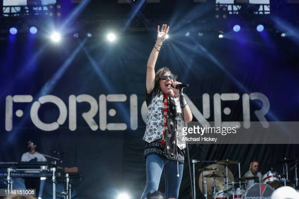 Kelly Hansen of Foreigner performs at Indy 500 Carb Day at the Indianapolis Motor Speedway on May 24 2019 in Indianapolis Indiana Kelly Hansen