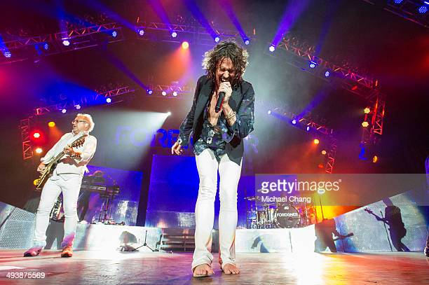 Kelly Hansen of Foreigner performs at The Amphitheater at the Wharf on May 25 2014 in Orange Beach Alabama