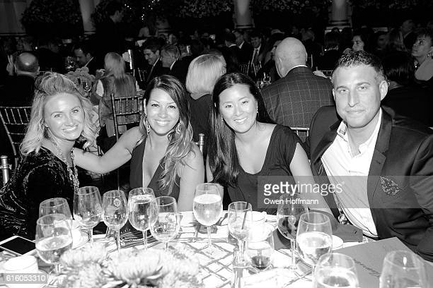 Kelly Hogan Meredith Glover Grace Kim and Brian Michael attend An Evening Honoring Joe Namath at The Plaza Hotel on October 20 2016 in New York City