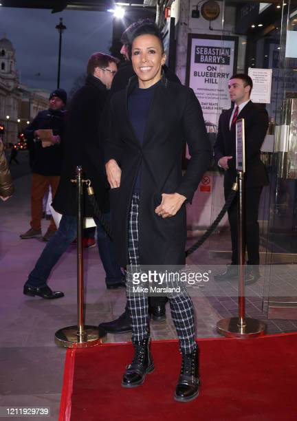 "Kelly Holmes attends the press night of ""On Blueberry Hill"" at Trafalgar Studios on March 11, 2020 in London, England."