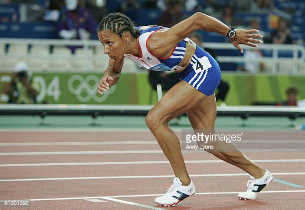 Kelly Holmes of Great Britain competes in the women's 800 metre semifinal on August 21 2004 during the Athens 2004 Summer Olympic Games at the...