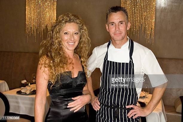 Kelly Hoppen and Gary Rhodes during Kelly Hoppen Hosts an Evening at Gary Rhodes' Restaurant May 16 2007 in London Great Britain