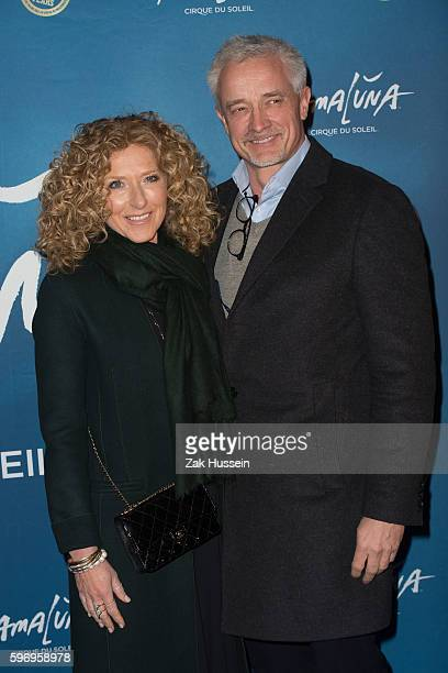 Kelly Hoppen and Graham Corrett arriving at the premiere of Cirque du Soleil's Amaluna at the Royal Albert Hall in London