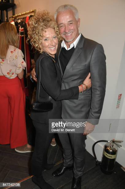 Kelly Hoppen and John Gardiner attend the Amanda Wakeley LFW Party on September 14 2017 in London England