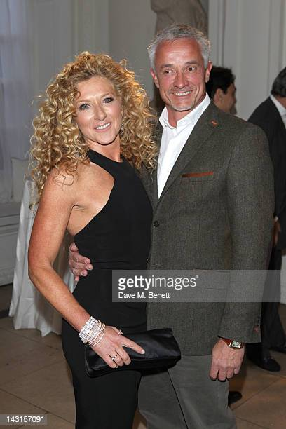 Kelly Hoppen and John Gardiner attend the launch party for the Cartier Tank Anglaise Watch Collection at The Orangery on April 19 2012 in London...