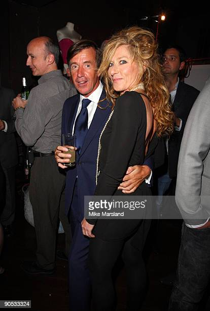 Kelly Hoppen and John Stoddart attends private view of Coco De Mer And John Stoddart: Love And Lust on September 9, 2009 in London, England.