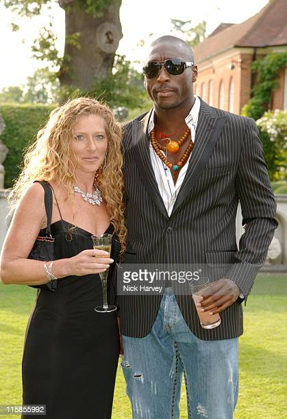 Kelly Hoppen and Sol Campbell during The 7th Annual White Tie and Tiara Ball to Benefit the Elton John Aids Foundation in Association with Chopard...