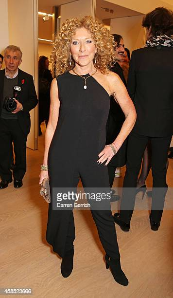 Kelly Hoppen attends a cocktail party hosted in honour of Diane von Furstenberg Journey Of A Dress on November 6 2014 in London England