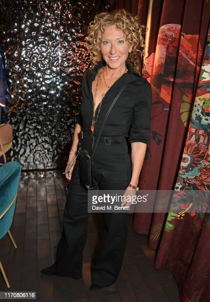 Kelly Hoppen attends a private dinner celebrating the launch of Donna Ida's 'Cassandra' jumpsuit at Black Roe on September 24 2019 in London England