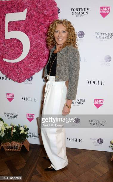 Kelly Hoppen attends the 5th annual Lady Garden lunch in support of the Silent No More Gynaecological Cancer Fund at Fortnum Mason on September 27...