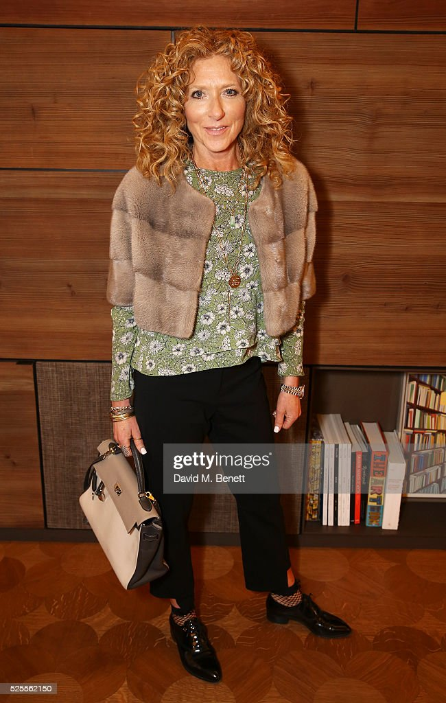 Kelly Hoppen attends the BFC Fashion Trust x Farfetch cocktail reception on April 28, 2016 in London, England.