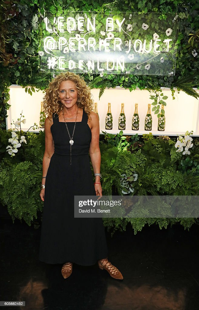 Kelly Hoppen attends the opening party for L'Eden by Perrier-Jouet in London's Wardour Street on September 15, 2016 in London, England.