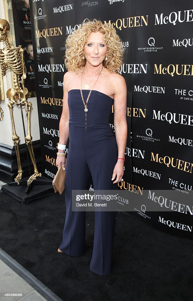 Kelly Hoppen attends the press night performance of 'McQueen' at the Theatre Royal Haymarket on August 27, 2015 in London, England.